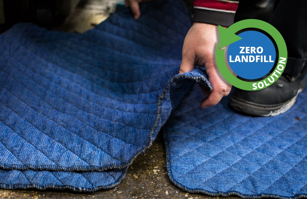 SorbIts reusable absorbent blue quilted pads for oil