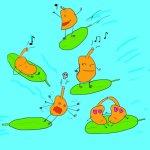 グリーンパイタンズ – 葉っぱにのって気の向くままに暮らすジャングルのメロディ・メイカー【愉快な生き物図鑑】