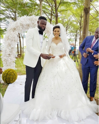Adorable Pictures From The White Wedding Of Yomi Casual And Grace