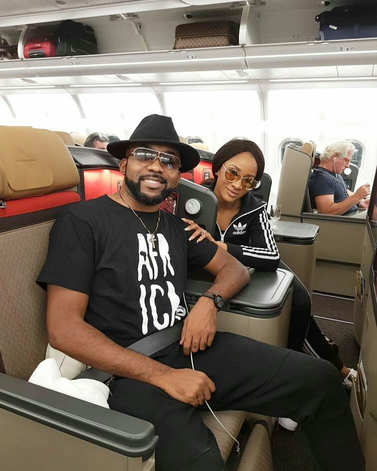 White Wedding: Banky W And Adesua Etomi Leave Nigeria For Cape Town
