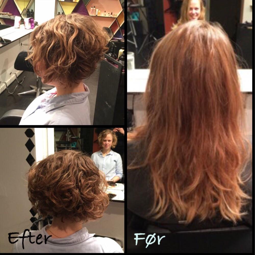 frisure før efter
