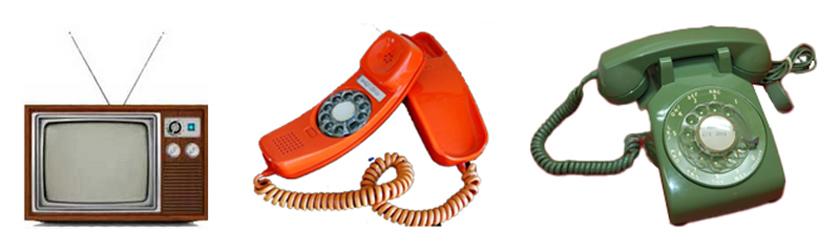 Rotary Phones and Antena TV