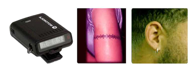 Pager-Barbed Wire Tattoo - Hoop Earring