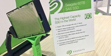 Seagate presentó su última línea de discos de almacenamiento flash de hasta 60TB.