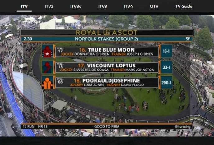 streaming royal ascot on ITV
