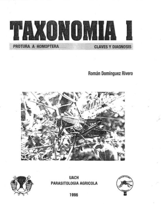 Taxonomía de Insectos Claves y Diagnosis. Domínguez Rivero