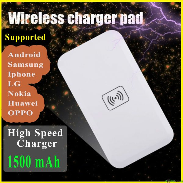 Universal Qi Fast Wireless Charger - 1500 mAh Wireless Charging Pad - Supported all Android, iPhone, Samsung, OPPO, Nokia, Huawei etc.