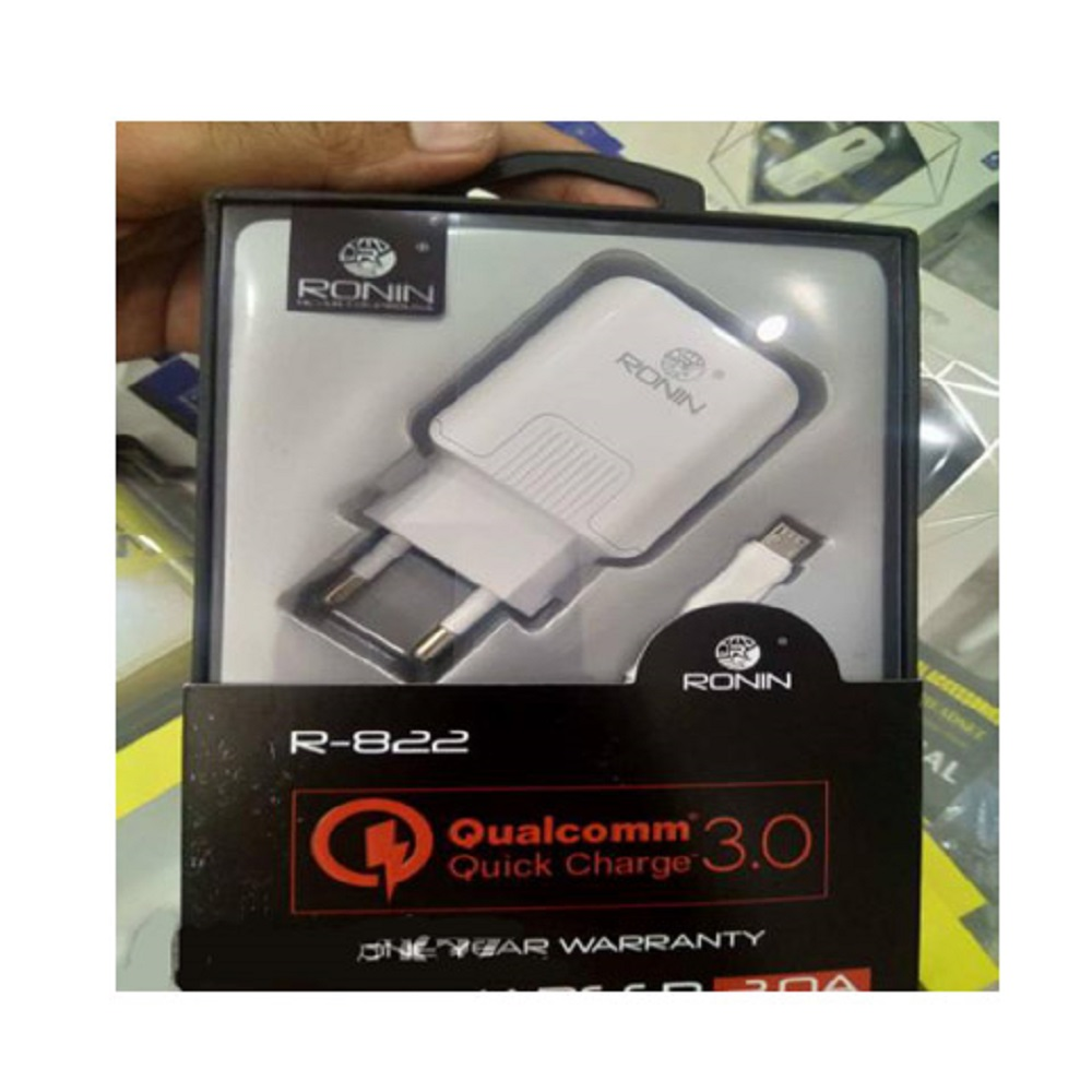 Orignal Ronin 3.0A Qualcomm Quick Charger With Data Cable R822-5V39B