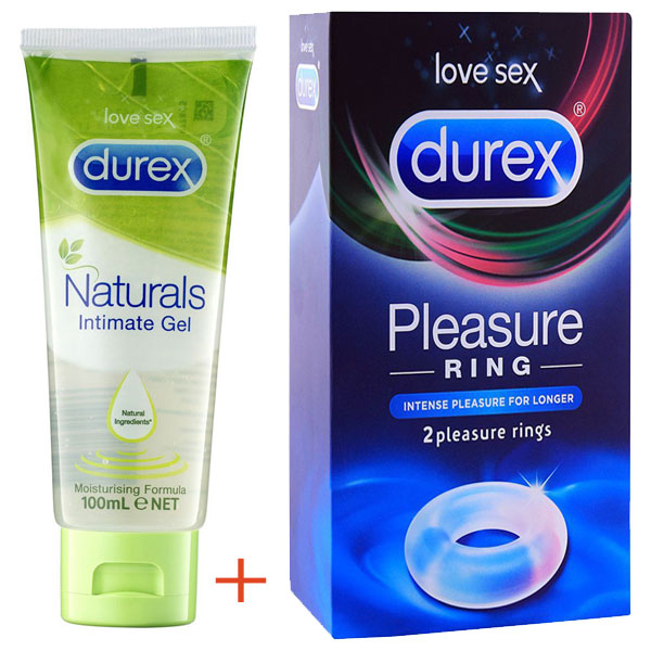 Original Durex Natural intimate Gel + 2 Pleasure rings