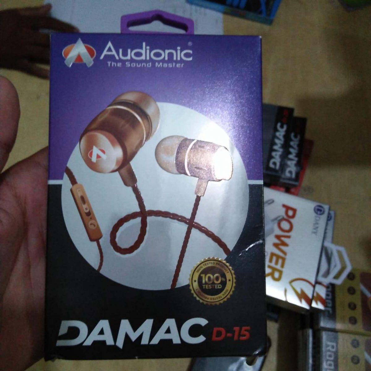 Audionic Brown Universal Earphone With Extra Bass - D-15
