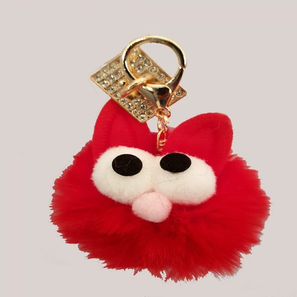 Red Cute Baby Ring Ball Style Car Key Chain, Bags & Mobile Holder - BH4-A0140