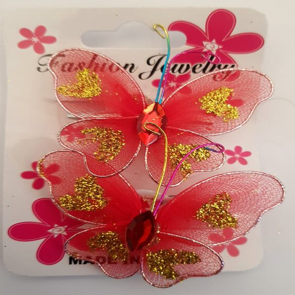 Pack Of 5 Butterfly Style Best Shining Hair Clips - JC74-A035