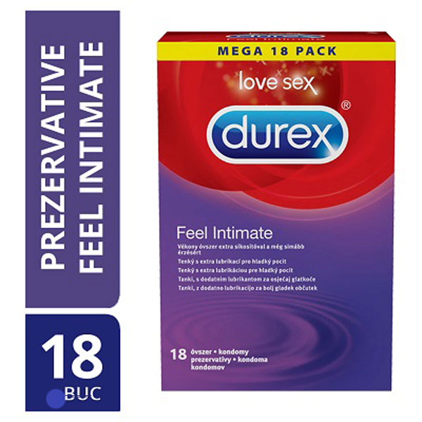 Original Durex Feel Intimate 18 Codoms R6Y55K