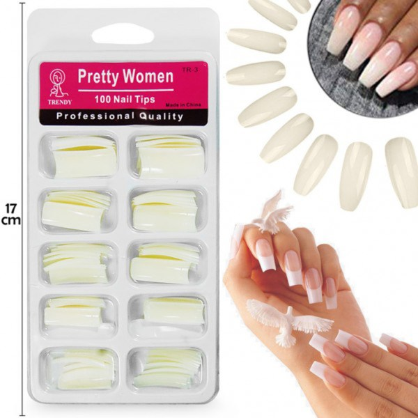 Professional Quality Pretty Woman 100 Nail Tips - 1AA00P