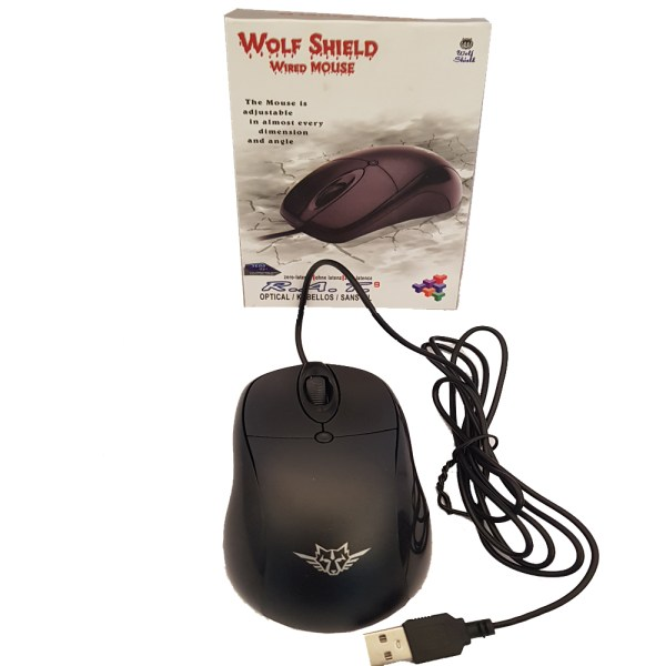 Wolf Shield 3D Optical Wired Mouse - 1R20P