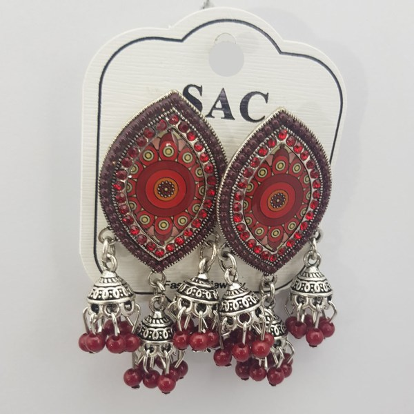 Beautiful Design Red Eye Style Shining Earrings JAR19 - 1R5S5