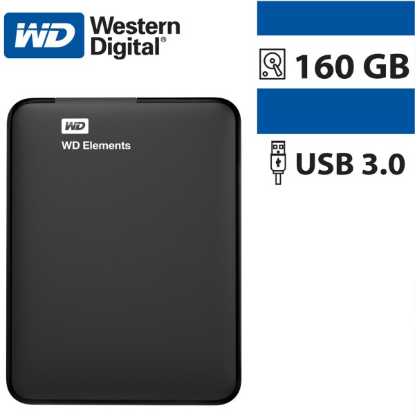 WD External 100% Health Hard Disk Portable 160GB Element Hard Drive USB 3.0 - 1V45P0