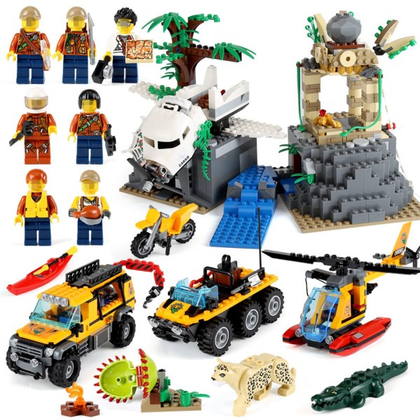 338 Pcs Jungle Exploration Site Set Compatible With Building Blocks-1S27S5