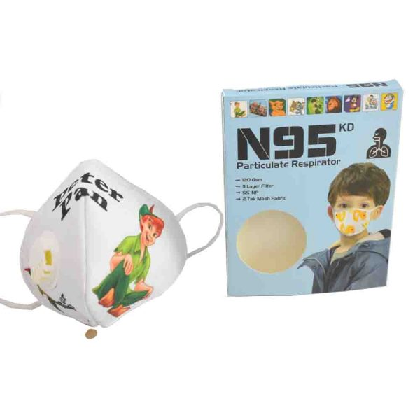 3 to 8 Years Peter Pan Cartoon Charactor N95 Mask for kids, boys & Girls Fm3
