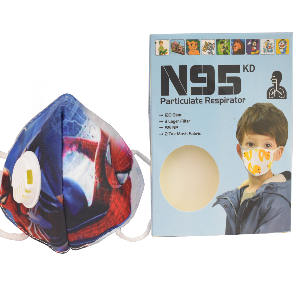 3 to 8 Years Spider Man Cartoon Character N95 Mask