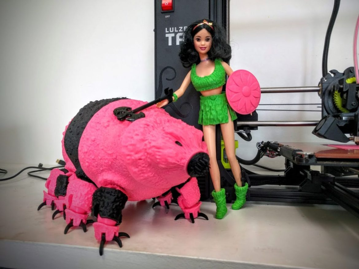 tardigrade barbie 3d print (1)