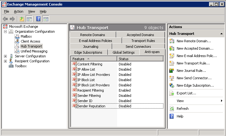 How To Disable Antispam (spam Filtering) In Microsoft