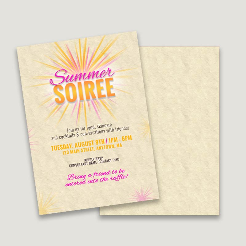 product summer soiree make your own invitations design template