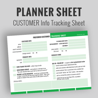 Planner Sheets