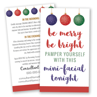 rodan and fields business holiday glow instructions