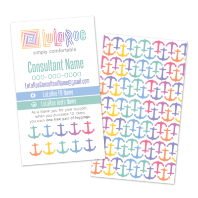 Lularoe Business Card Anchor Design