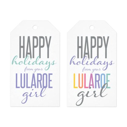lularoe holiday gift tag instant download