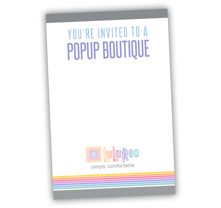 LuLaRoe Invitation Notecard