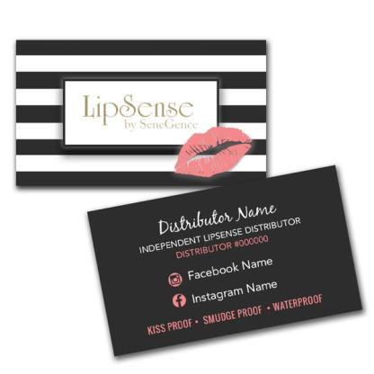 lipsense business card, lipsense business