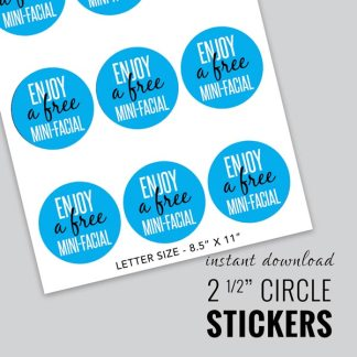rodan and fields sticker for free mini facial