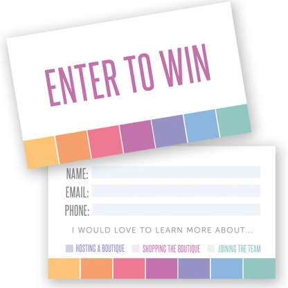 lularoe enter to win raffle ticket for pop up boutique events
