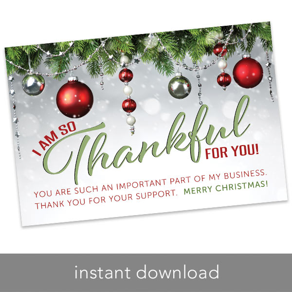 Christmas Thank You Cards.Holiday Thank You Card 4 X 6 Merry Christmas Itw Visions