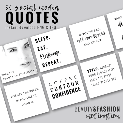 social media beauty fashion quotes