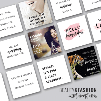 social media beauty and fashion motivational quotes instant download