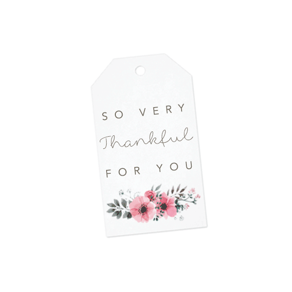 so very thankful for you gift tag, thank you card