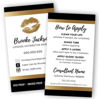 lipsense business cards, lipsense business card design, lipsense business, lipsense loyalty card,