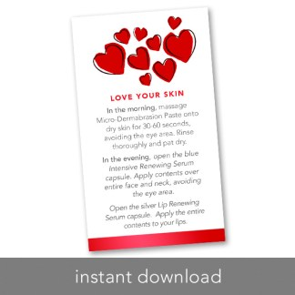 rodan and fields love your skin mini facial instant download for valentines day