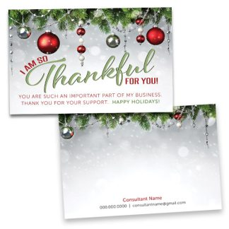 holiday thank you card, christmas thank you card, rodan and fields thank you card, lularoe thank you card, holiday business thank you card