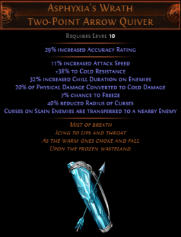 Asphyxia's Wrath Two-Point Arrow Quiver
