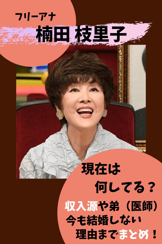 楠田枝里子,現在,今,2021,収入源,弟,チョコ,消しゴム,年齢,結婚,身長,画像,マツコの知らない世界