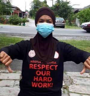 """Nestlé Malaysia workers declare, """"respect our hard work!"""""""
