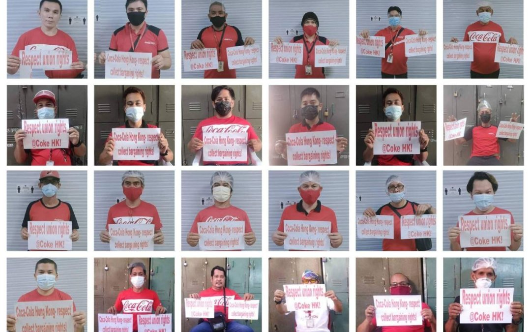 Coca-Cola workers across Asia express solidarity for striking workers in Hong Kong