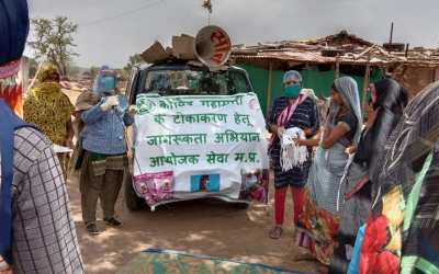 Supporting rural women workers' access to COVID-19 vaccines in India