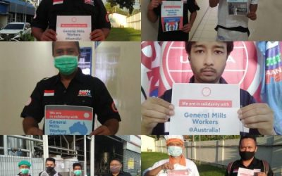 Solidarity across Asia-Pacific for striking General Mills workers in Australia
