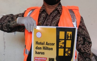 International Day of Democracy 2021 posters: Accor and Hilton must stop financing Myanmar's military junta