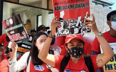 """Fairmont Bali Fight Continues: """"We won't be tired, We won't give up, We won't be silenced, If justice sinks, we will fight!"""""""